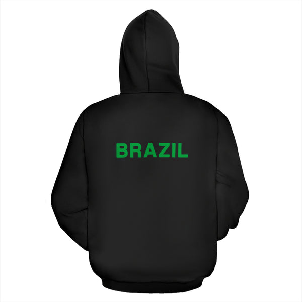Brazil Soccer Zip-Up Hoodie Men