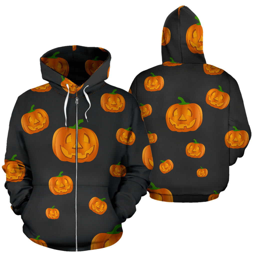 Women's Zip-Up Hoodie - Pumpkin Power