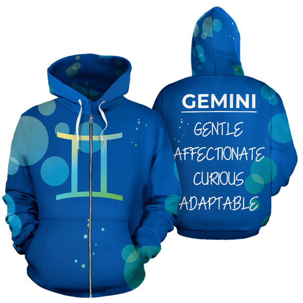 Zip-Up Hoodie - Zodiac Collection (Gemini)