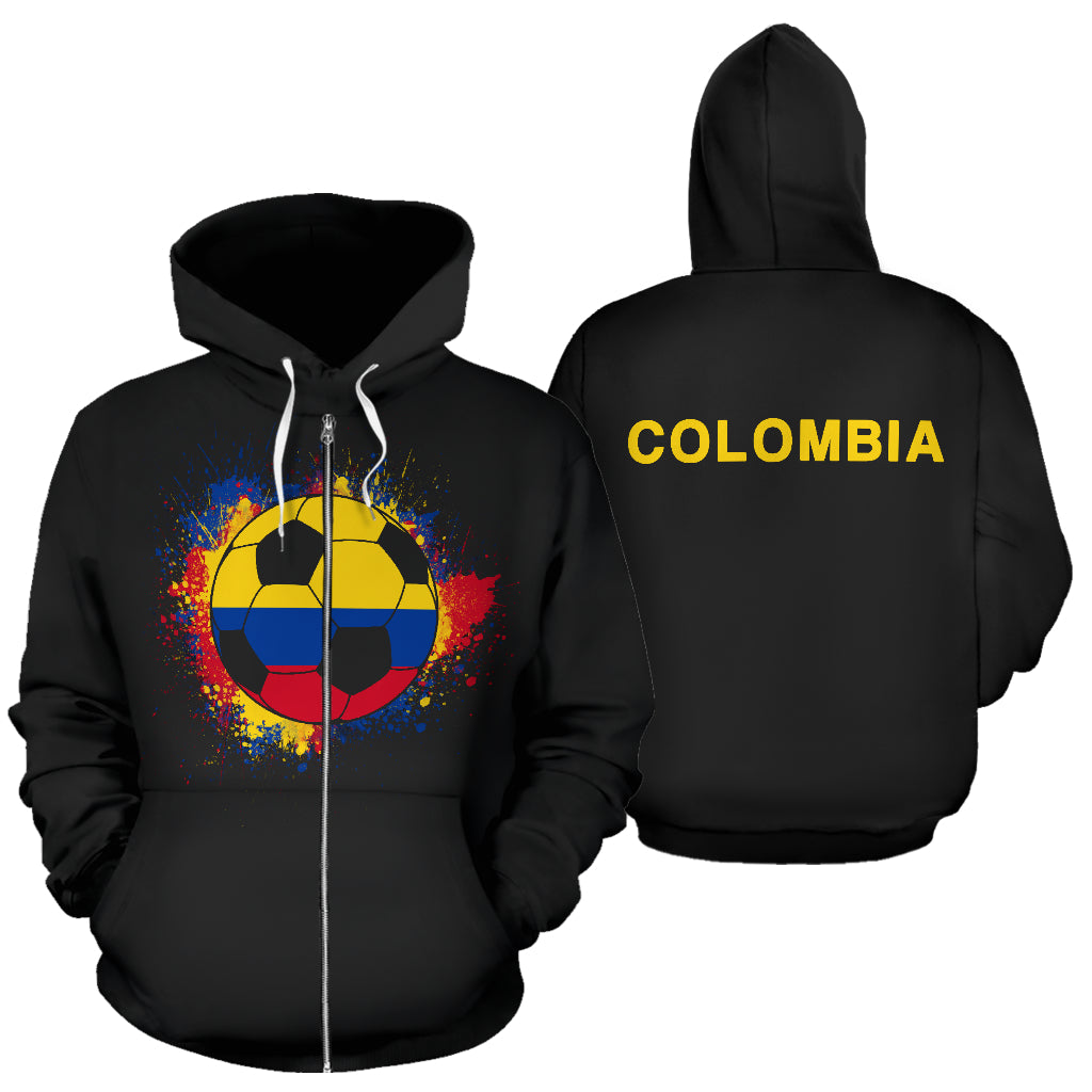 Colombia Soccer Zip-Up Hoodie Kids
