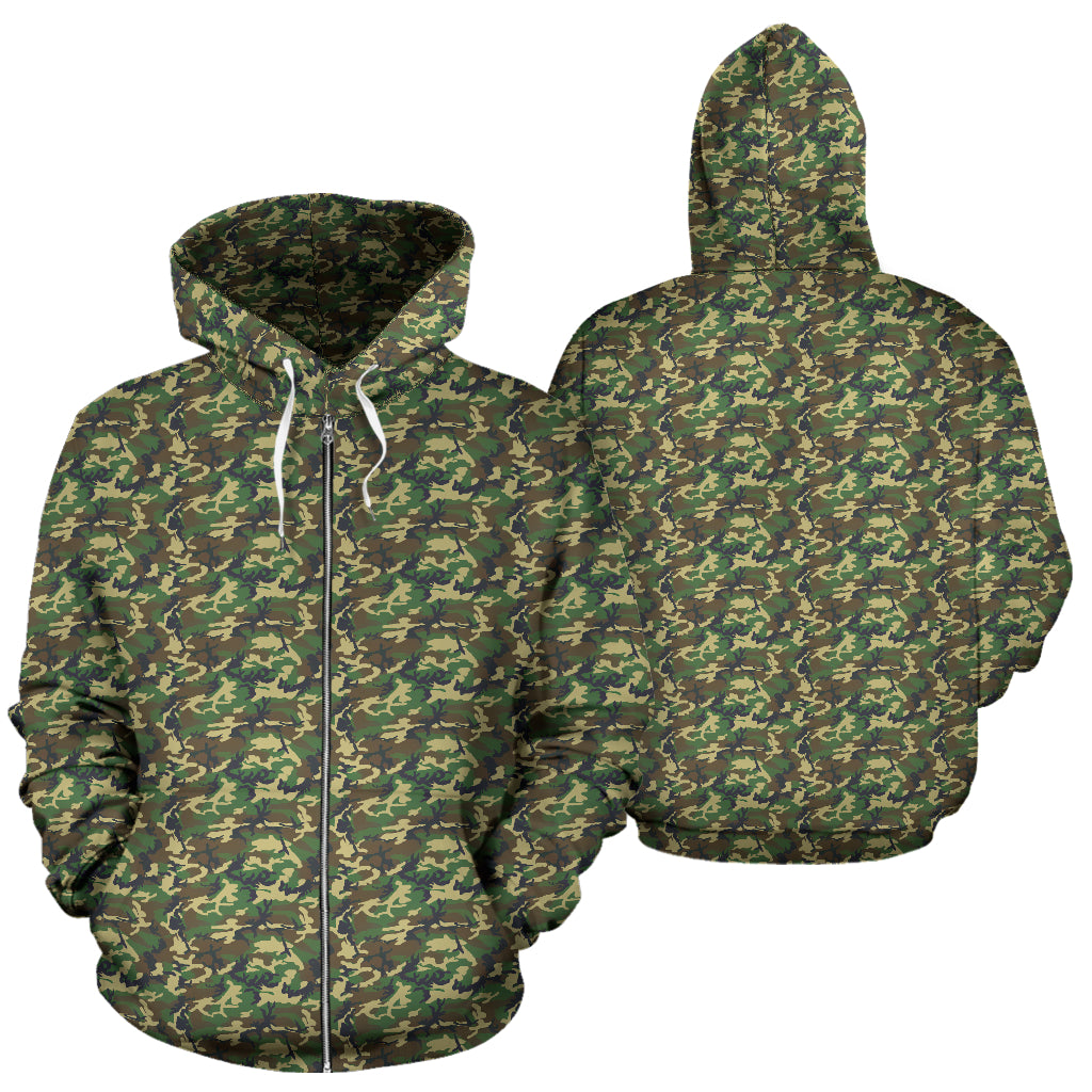 Women's Zip-Up Hoodie - Camouflage