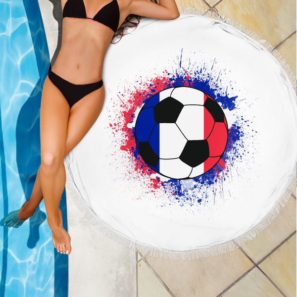 France Soccer Beach Blanket
