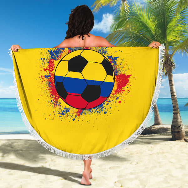 Colombia Soccer Beach Blanket
