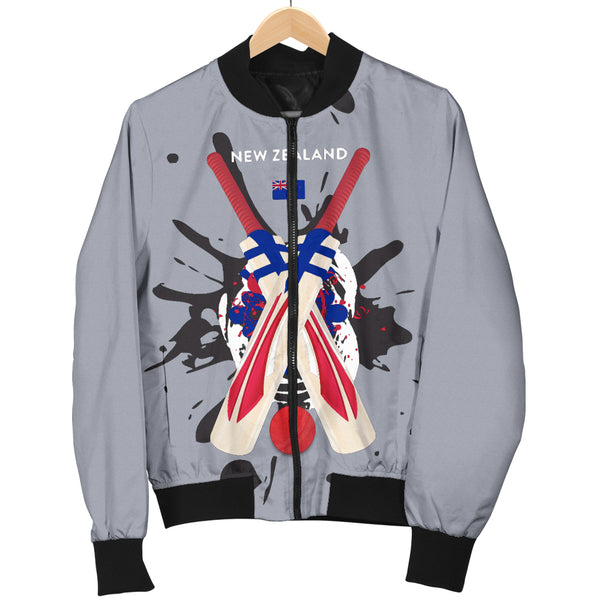 Men's Bomber Jacket - Cricket Collection (New Zealand)