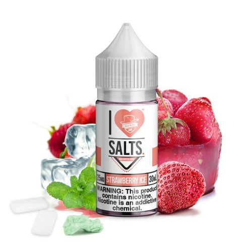 I Love Salts Strawberry Ice | 30 ml - Vape Delivery Orlando