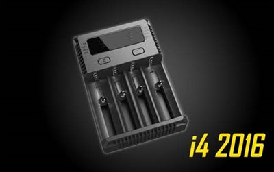 Nitecore I4 4-BAY Lithium Ion Battery Charger - Vape Delivery Orlando