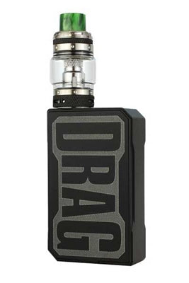 VOOPOO BLACK FRAME DRAG 157W TC BOX MOD RESIN