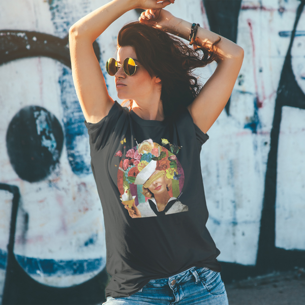 """Cockatiel Party"" Unisex Tee - Vintage Black"
