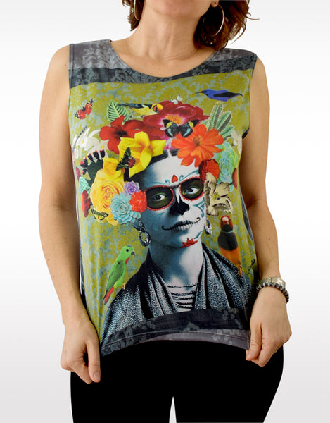 'FRIDA 2' Loose Sleeveless Top