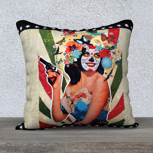 'Juanita Bandita' - 18x18 Pillow Cover