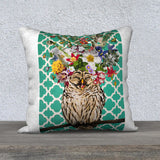 'Laughing Owl' - 18x18 Pillow Cover