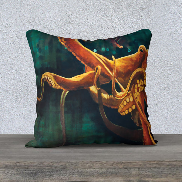 'Octopus' - 18x18 Pillow Cover