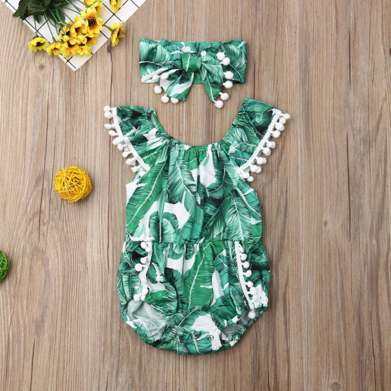 0 24M Baby Beach Style Bodysuit Clothes Toddler