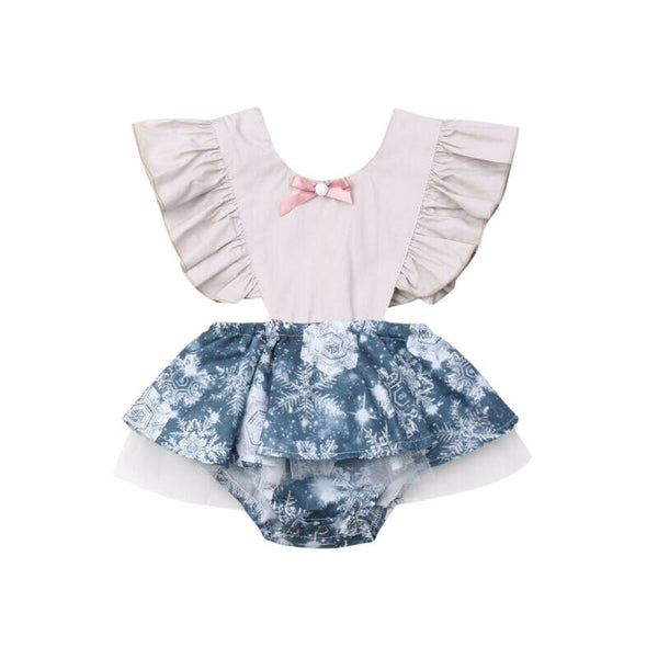 0 24M Newborn Baby Girls Bodysuits Clothes Ruffle
