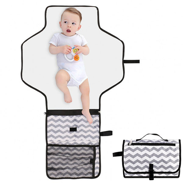 Portable Diaper Changing Pad Mat Waterproof Folding Station Clutch Travel Carrying Bag for Baby Travel Bassinet Functions