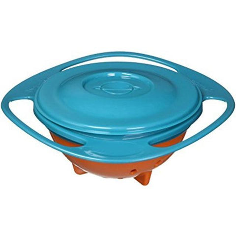 360 Rotate Spill-Proof Plastic Bowl Infant Baby Learning Feeding Toy Dishes Training Feeding No Spill Anti Messing Bowl Gift