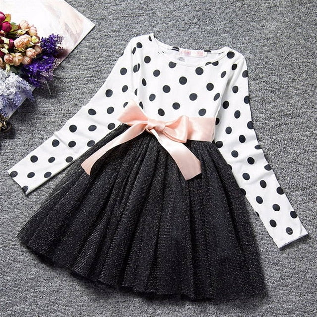 Polka Dot Long Sleeved Dress