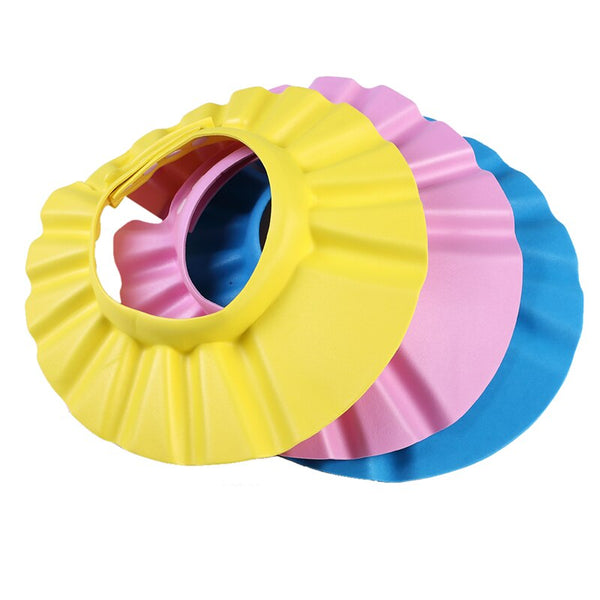 3colors Safe Shampoo baby Shower Cap Bathing Bath