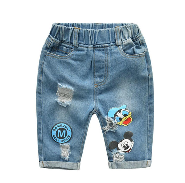 Cartoon Denim Shirt + Shorts