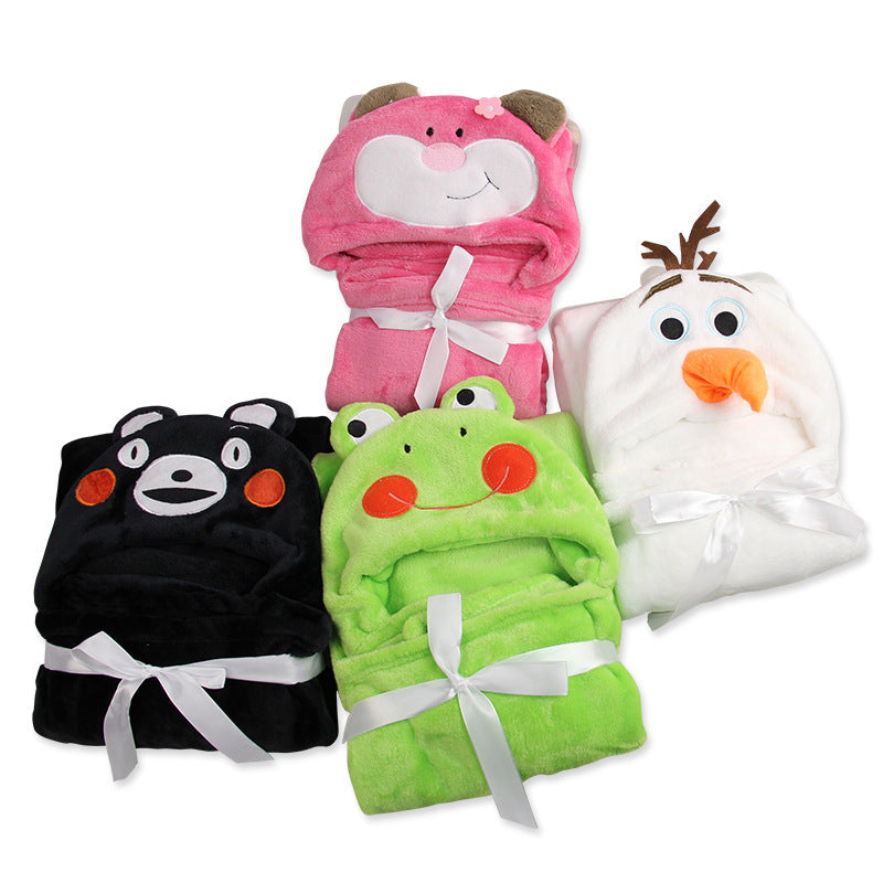 Soft Hooded Animal Baby Bathrobe High Quality 16 Pattern Cartoon Baby Towel Character Kids Bath Robe Infant Towel