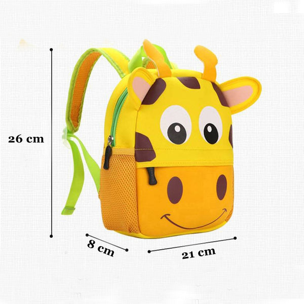 2020 New 3D Animal Children Backpacks Brand Design Girl Boys Backpack Toddler Kids Neoprene School Bags Kindergarten Cartoon Bag