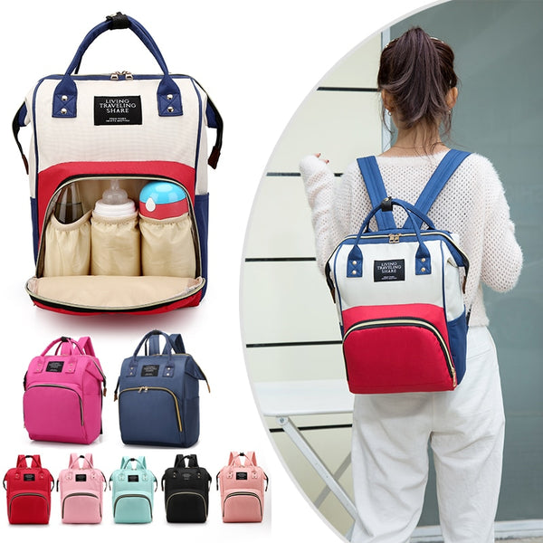 Large Capacity Mummy Bag Maternity Nappy Bag Travel Backpack Nursing Bag for Baby Care Women's Fashion Bag