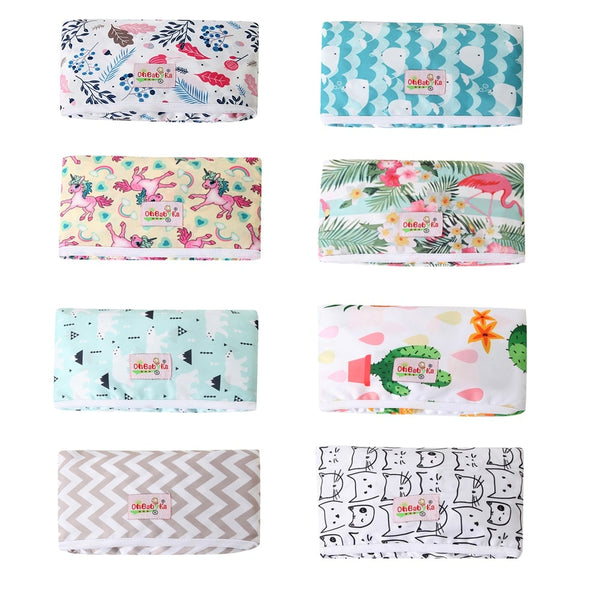 Diaper Changing Mat Portable Waterproof Changing Pad Cover 2020 New Ohbabyka Brand Baby Diaper Changing Mat Reusable Wipes Cover