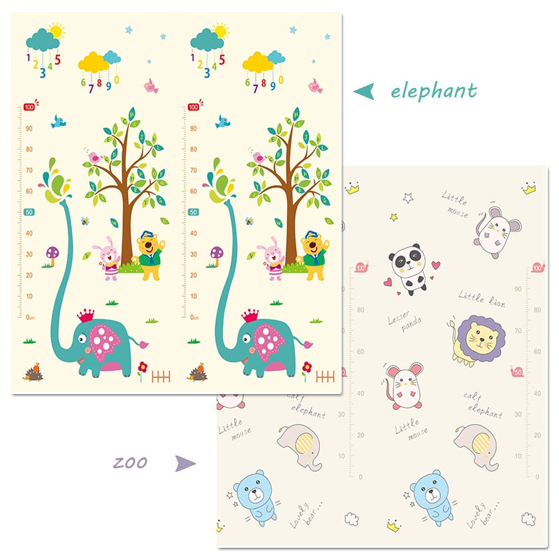 Baby Play Mat,Folding XPE Crawling Mat for Floor, Extra Thick 1cm,Water Proof and Soft for Toddler (180cm200cm)