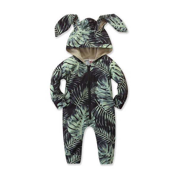 Newborn Baby Kids Boys Long Sleeve Warm Romper