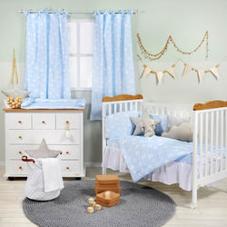 Blue Cloud Crib Bedding Collection Baby Bedding