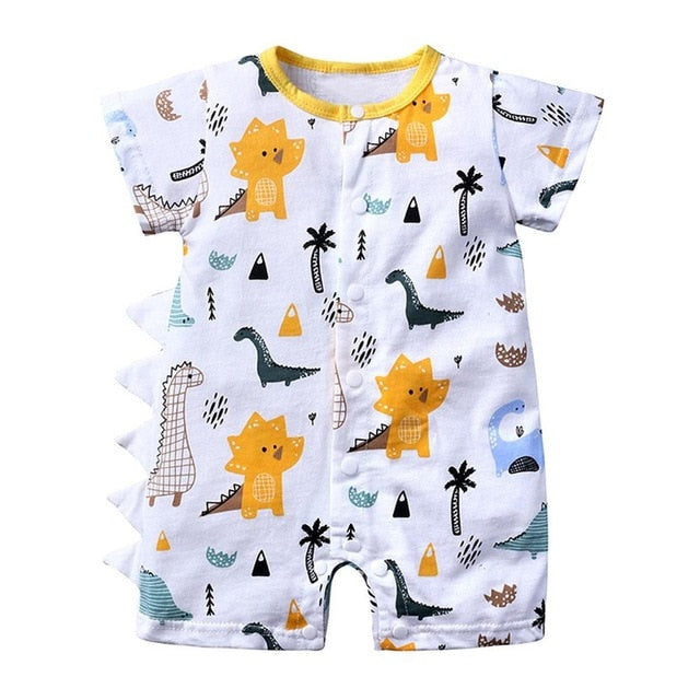 Summer New Fashion Newborn Infant Baby Boy Girl Cartoon Dinosaur Romper Jumpsuit Outfits Clothes Wholesale Free Ship Z4