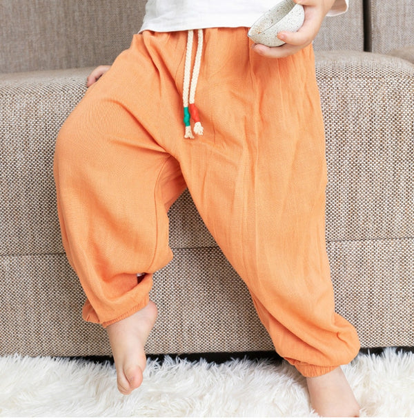 Children's Toddler Viscose Pants Spring Summer Baby Pants Boys Girls Sports Casual Anti-mosquito Pants For 0-3 Years Baby