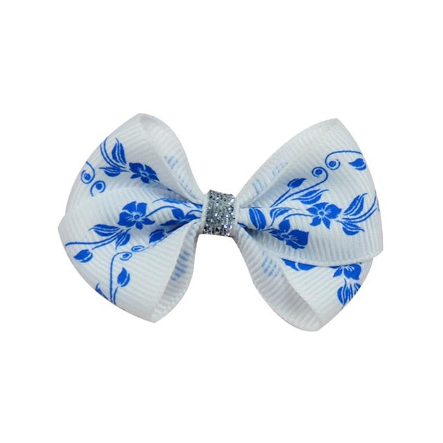 Novelty Trumpetflower Elastic Hair Bands Ribbon Clip Bow Girl