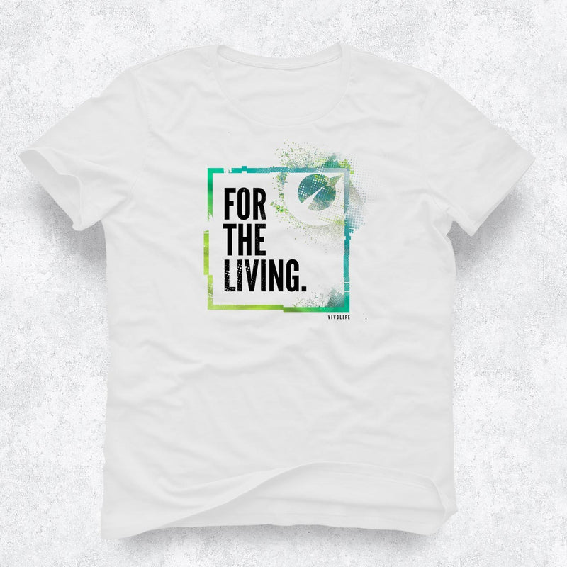 Damen T-shirt - For The Living (Weiß)