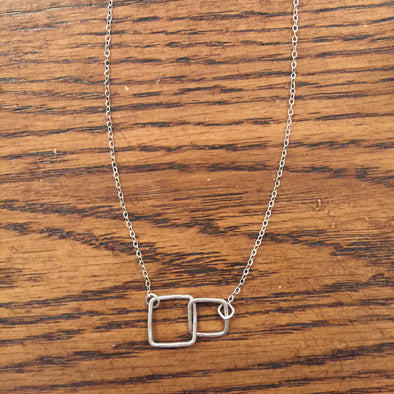 Jamison Rae Kissing Squares Necklace