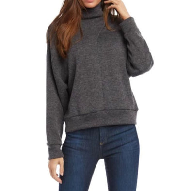 Fifteen Twenty Faux Wrap Turtleneck - Charcoal