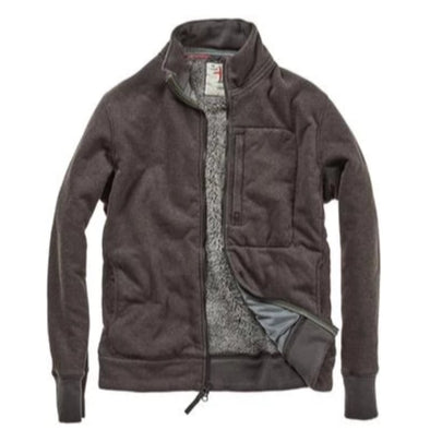 Relwen Track Jacket Superfleece - Smoke Brown