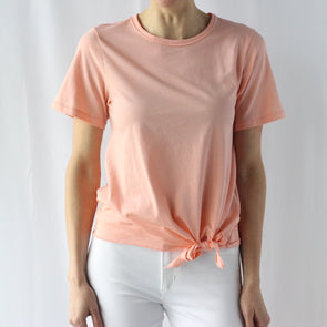 Lilla P Tie Front Shirt - Coral Reef