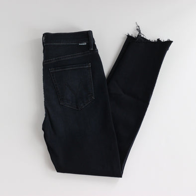 Mother Denim Stunner Zip Two Step Fray - Last Call