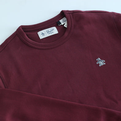 Original Penguin L/S Sticker Pete Fleece Crew - Tawny Port