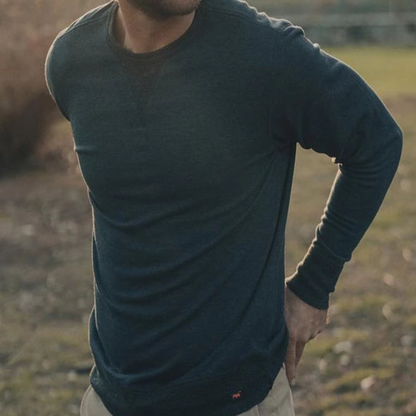 The Normal Brand Cole Terry Pullover - Navy