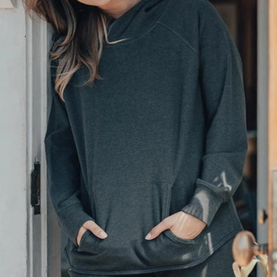 The Normal Brand Puremeso Hoodie - Charcoal
