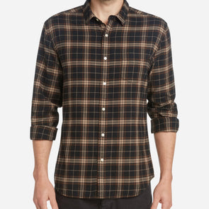 Life After Denim Tartan Shirt - Black