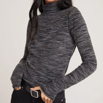 Bella Dahl Turtle Neck Top - Charcoal