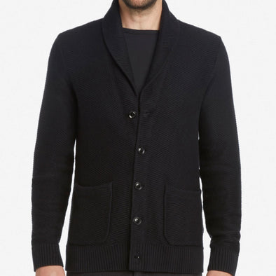 Life After Denim Wales Cardigan Sweater - Black