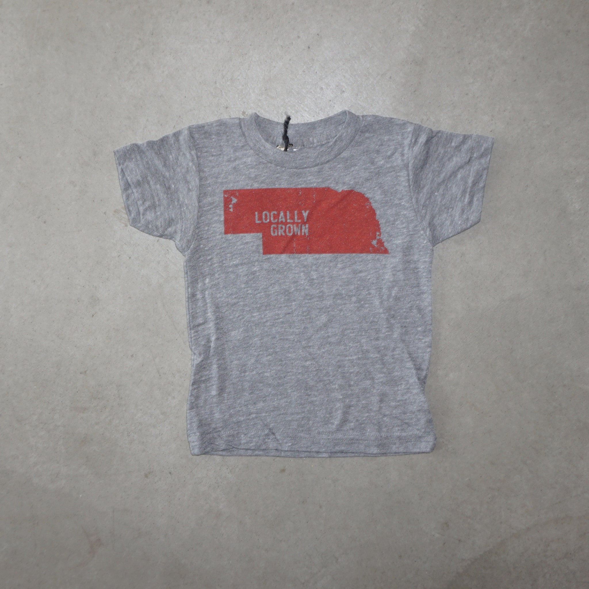Locally Grown Kids Nebraska Solid State - Heather Grey