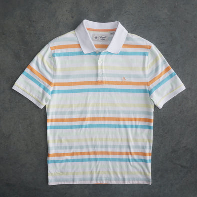 Original Penguin S/S Polo - Pastel Stripes