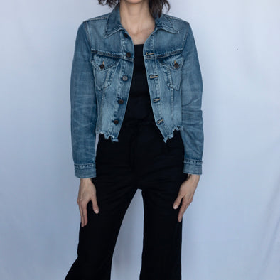 Able Cropped Denim Jacket - Naibi Wash