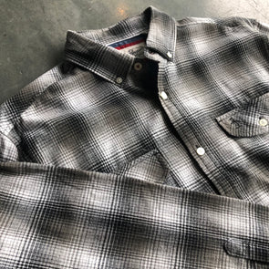 Original Penguin L/S Woven - Black & White Plaid