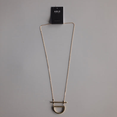 Able Manifesto Necklace - Brass